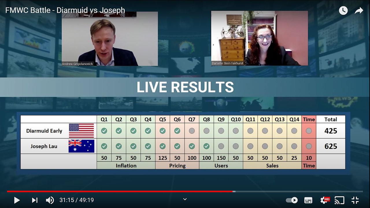 Diarmuid vs Joseph Battle Screenshot